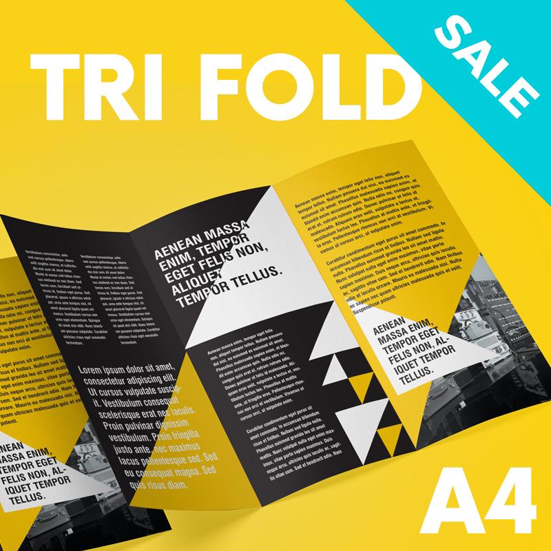 Tri fold A4