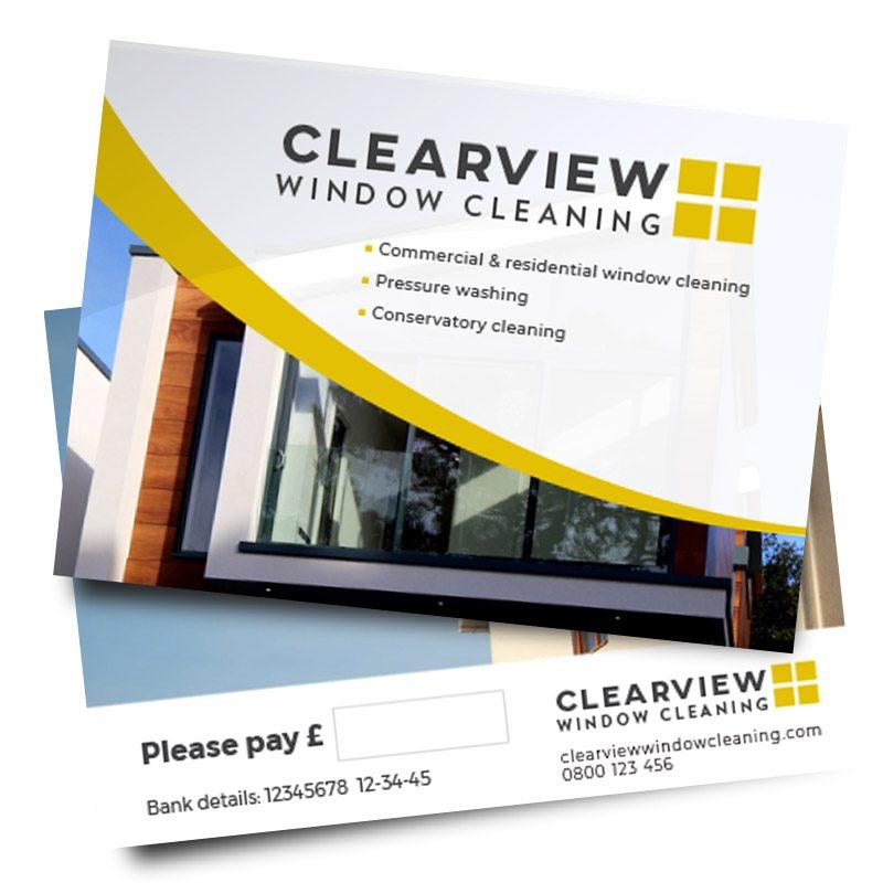 window cleaner leaflet